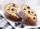 honey roll with blueberries 1